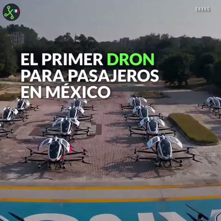 El futuro: los drones autónomos para pasajeros llegarán a México en 2020.  #VideoXTK