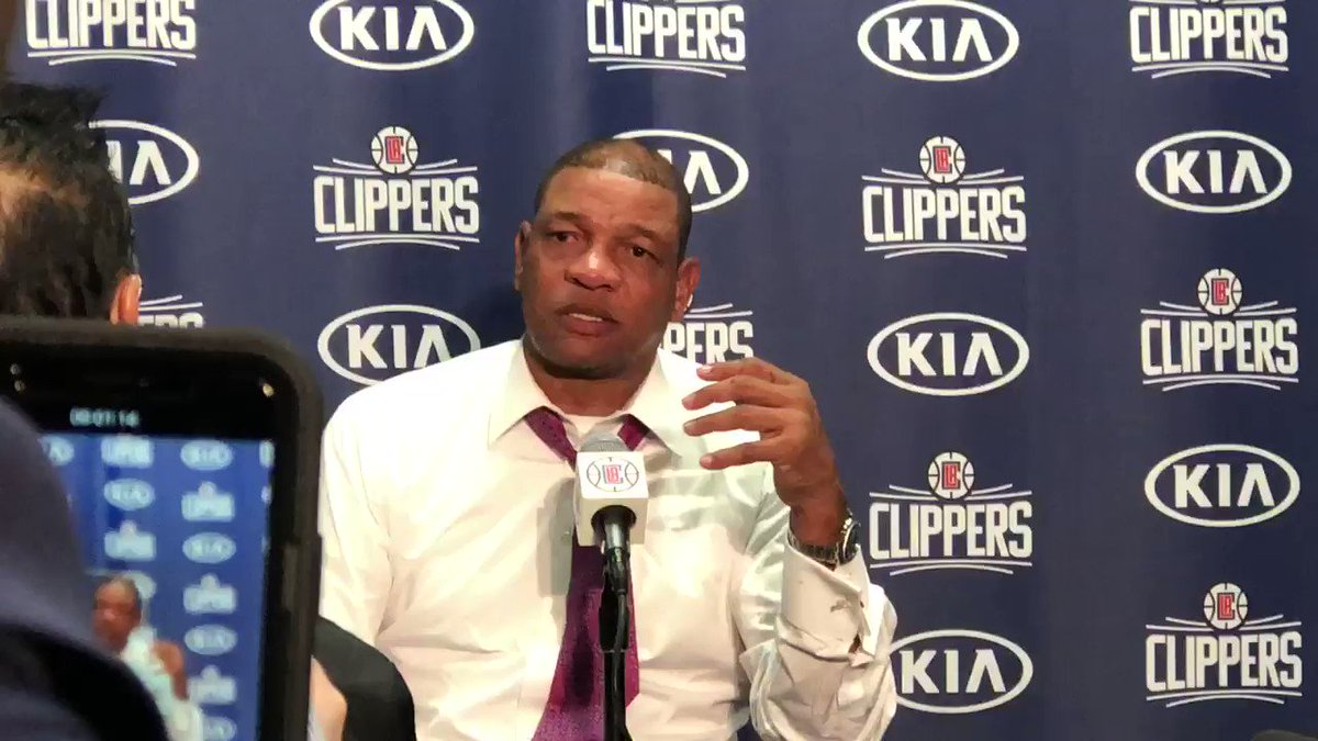 """We're nowhere near where we're going to be...and that's a good thing."" -Doc on the potential of the#is #ClipperNation team"