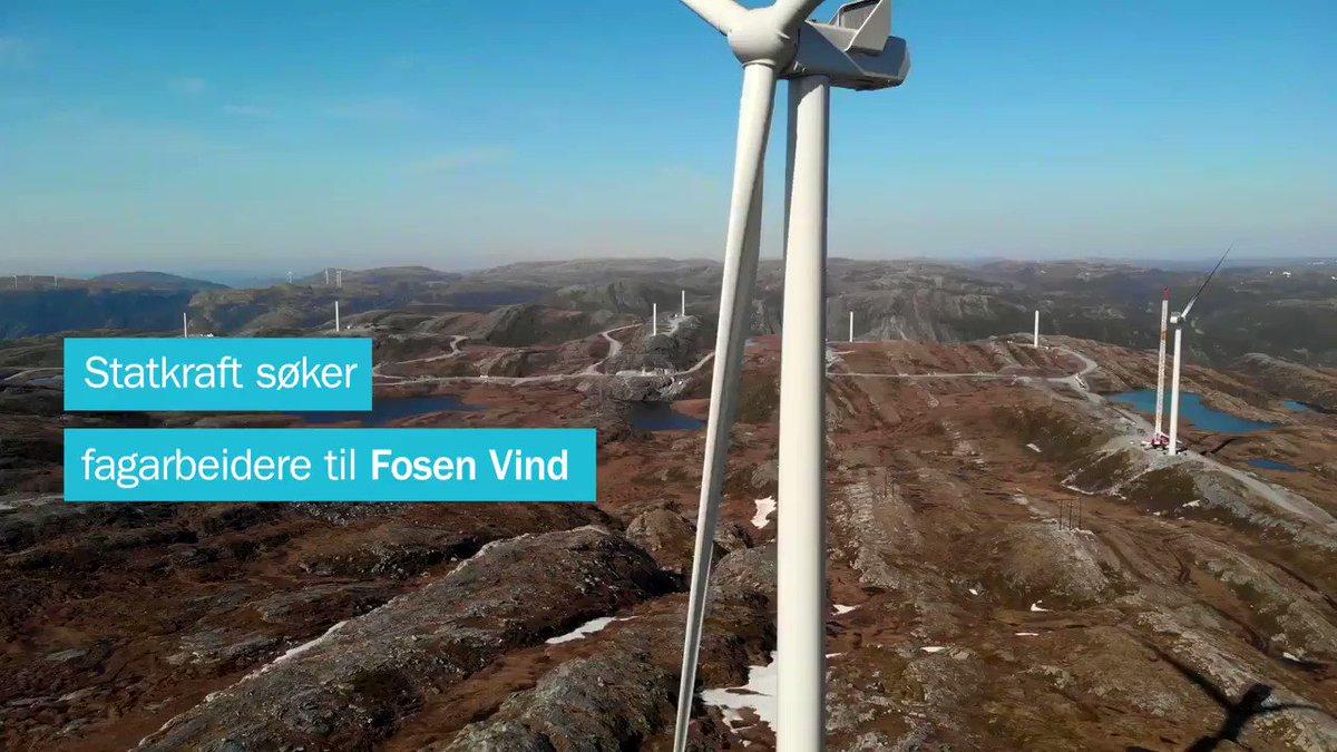 Satser du høyt - er dette din nye arbeidsplass? Statkraft søker nå etter flere fagarbeidere til våre vindparker https://t.co/319nnHij5H https://t.co/MacdPxlQdu