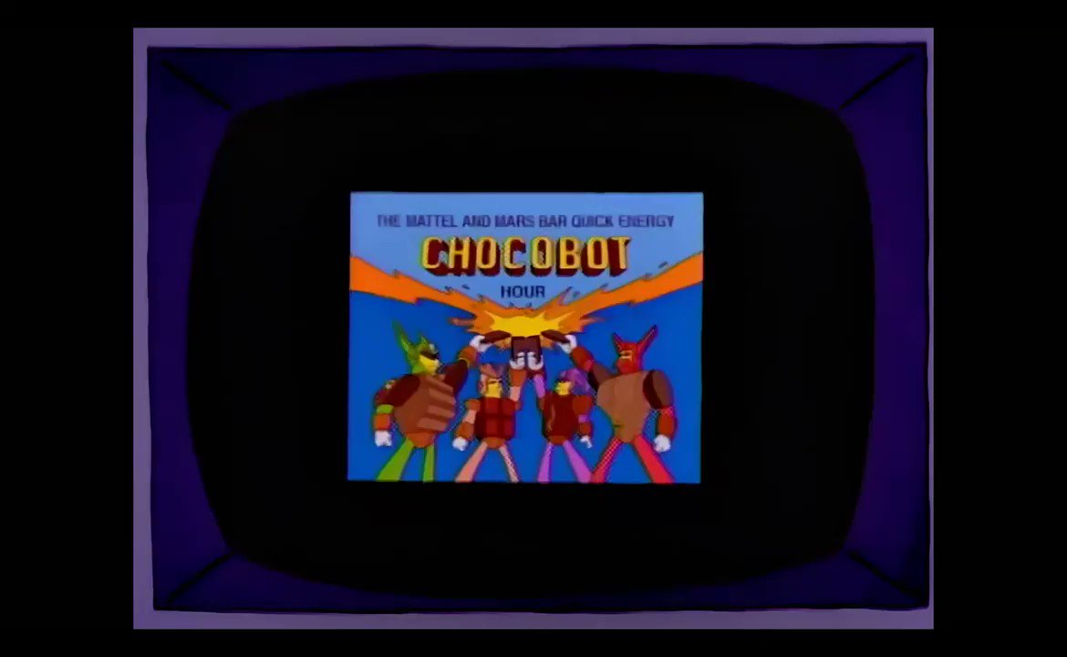 Brand Fictive On Twitter The Mattel And Mars Bar Quick Energy Chocobot Hour The Simpsons Girly Edition 1998