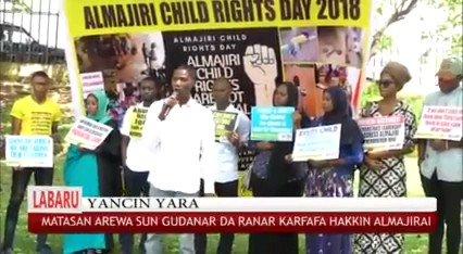 Image for the Tweet beginning: Throwback 2018 Almajiri child rights