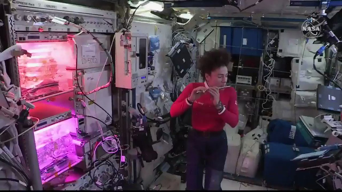 Do you know what a piccolo being played sounds like? What about a piccolo being played in space? Today @Astro_Jessica treated students in Maine to a little bit of music from space! @NASA loves having astronauts with diverse backgrounds and talents on the @Space_Station!