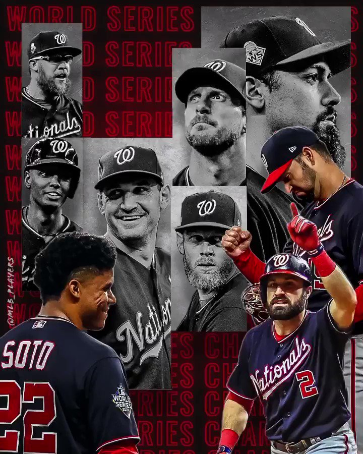 Behind what was an incredible postseason run, the #Washington @Nationals are the 2019 #WorldSeries Champions! Congratulations to all the #MLBPlayers on an outstanding season!