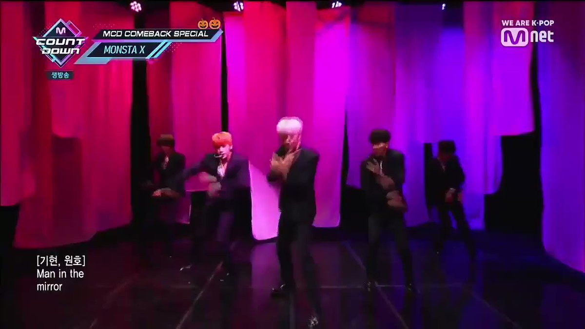 monsta x OT7 performing mirror, a song composed by WONHO is still my favorite stage in this era @OfficialMonstaX #긴_싸움을_위해_준비됐다 #MonbebeWontBackDown