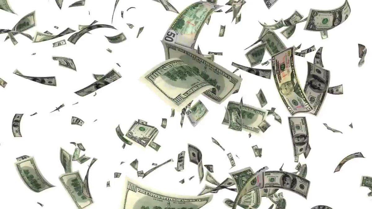 Гифка деньги летят