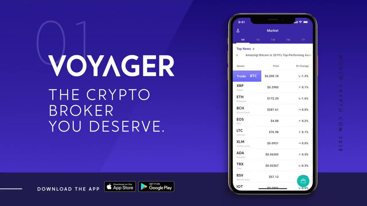 Voyager is now live on Android and iOS! Download and start trading 25+ crypto assets, 100% commission-free.   #investvoyager #mycryptojourney #BTC $BTC #Crypto