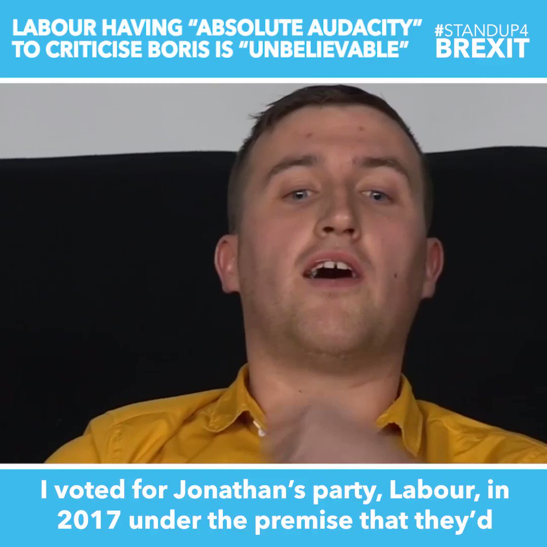 """""""I voted for Labour in '17 under the premise that they'd respect the outcome of the referendum. I can't believe you have the absolute audacity to sit there and criticise Boris when he's actually made an effort to get us out. You've sold your soul out to the liberal elites"""" #BBCQT"""