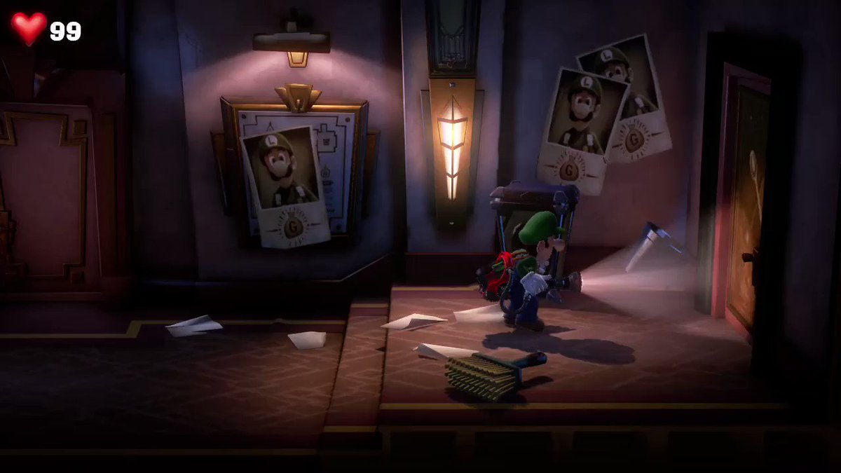 Other Games: The door is barred. Luigis Mansion 3: