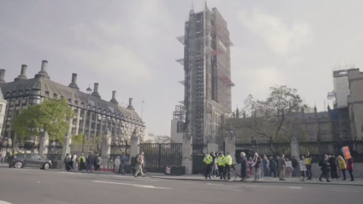 Reminder: @BorisJohnson keeps saying the @Conservatives care about the NHS because the man telling him to say that knows the @Conservatives dont care about the NHS and voters do (location: Parliament Square SOUND ON)