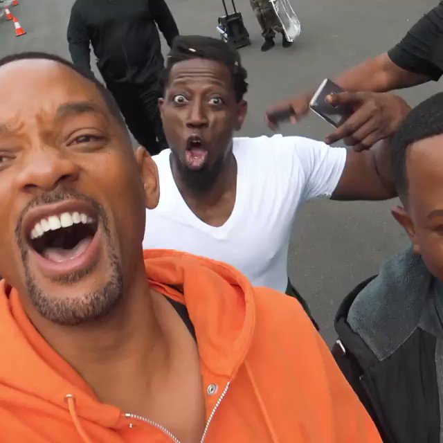 Next level iconic: Bad Boys 3 is filming in the same studio as Coming to America 2, so Will Smith stopped by to surprise some old friends.
