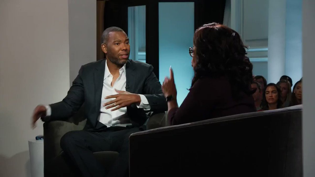 For Ta-Nehisi Coates' terrific answer, watch my @oprahsbookclub interview on @appletv. It's up and streaming now! #ReadWithUs