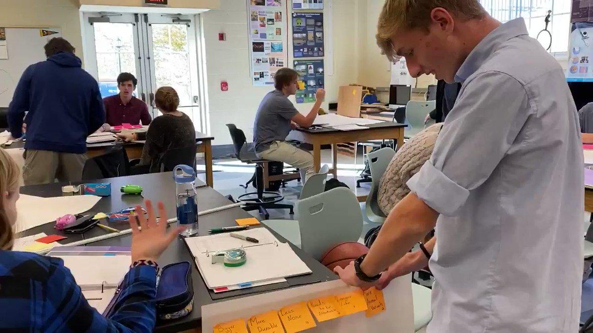 Affinity analysis underway @PomfretSchool @EngrYourWorld class.