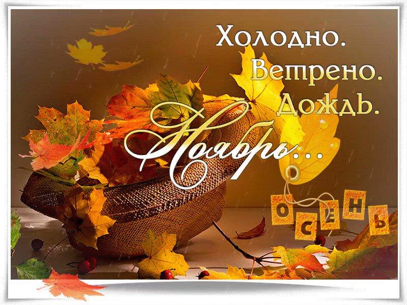 открытки про ноябрь также отгрузки очередной