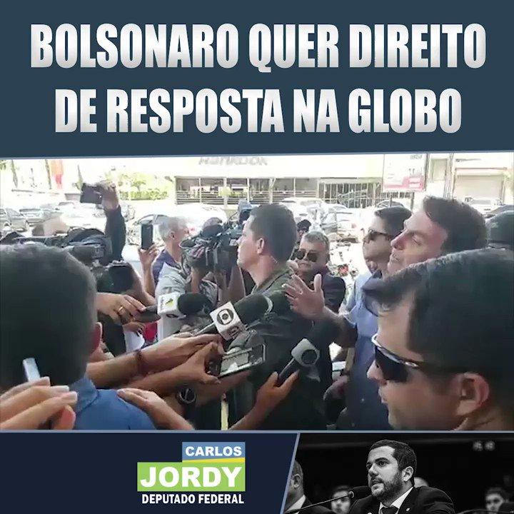Presidente Bolsonaro dá recado pra rede globo: é bom estarem arrumadinhos pra renovação da concessão e é melhor JAIR dando direito de resposta.