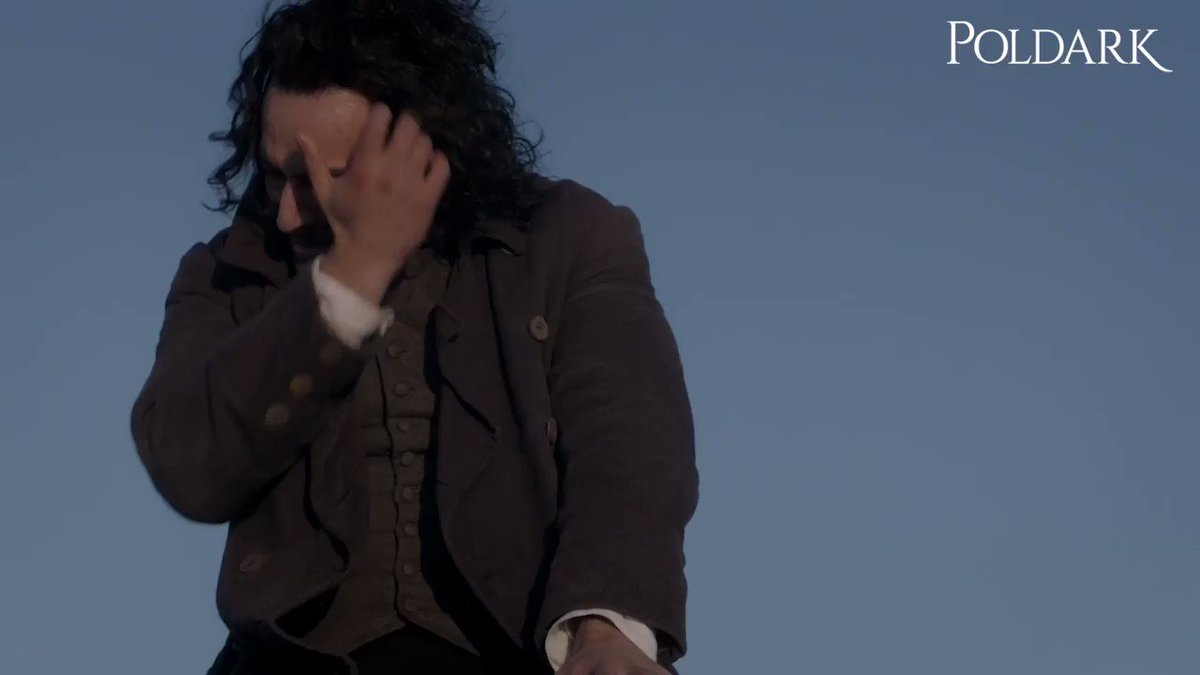 How all of us feel at the end of this episode. 😭 Tune in next week at 9/8c for more #PoldarkPBS