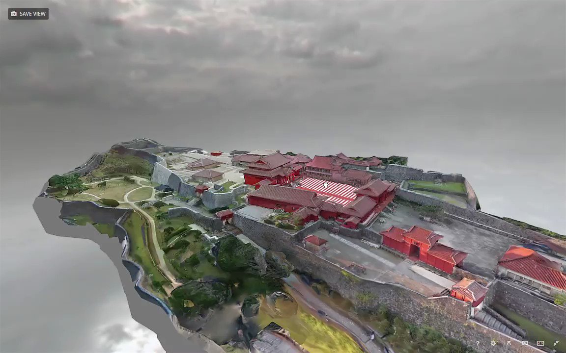 @UNESCO @Sketchfab Finally we have a preliminary 3D model ready @sketchfab ! It was an intensive weekend working hard to help with a digital version of #首里城 Shurijo Castle : skfb.ly/6OzKp #photogrammetry #ShuriCastle