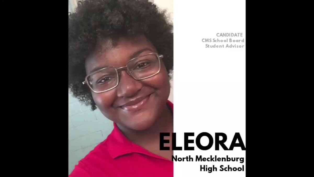 Image for the Tweet beginning: Which @CharMeckSchools Student Advisor candidate