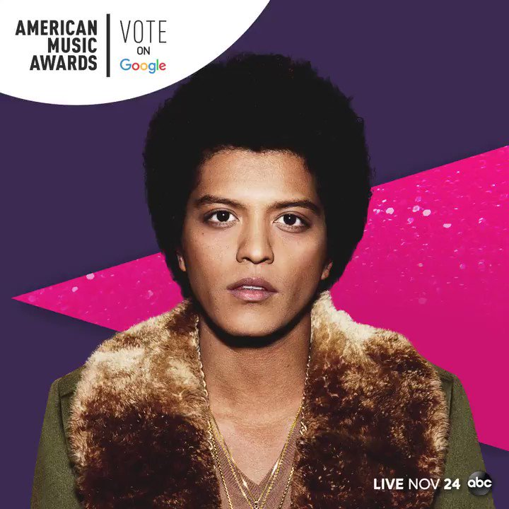Want to vote @BrunoMars for Favorite Male Artist - Soul/R&B at the #AMAs? Visit @Google: goo.gle/AMAsVote