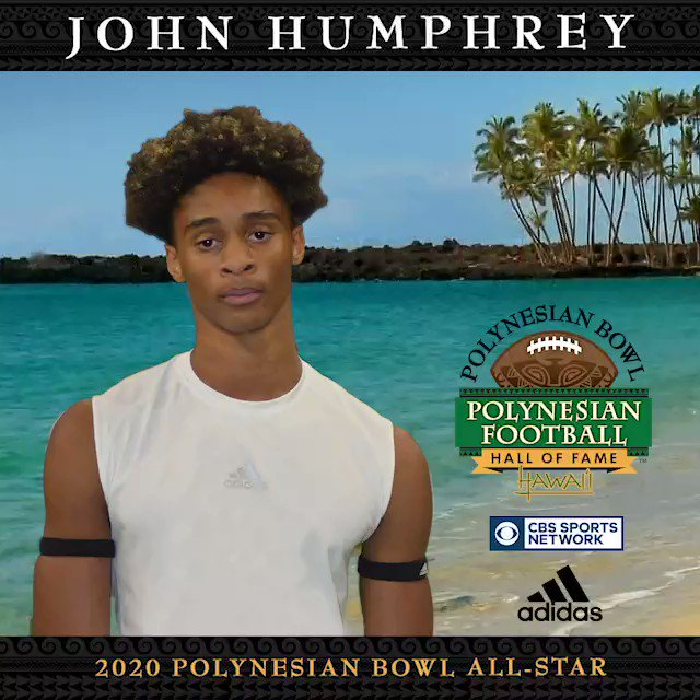 A top Class of 2020 CB makes a commitment. 4⭐️ JOHN HUMPHREY (@johnhumphrey023) has been selected as a POLYNESIAN BOWL ALL-STAR! #PolyBowl2K20 🤙🏽🌴 @BrandonHuffman @GregBiggins @SWiltfong247 @Zack_Poff_MP @bangulo @BruinReport