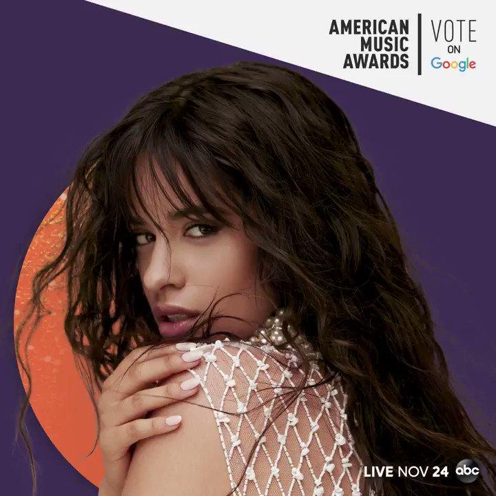 Its true, la la la…@Camila_Cabello is nominated for Collaboration of the Year at the #AMAs! Vote on @Google here ➡️ goo.gle/AMAsVote