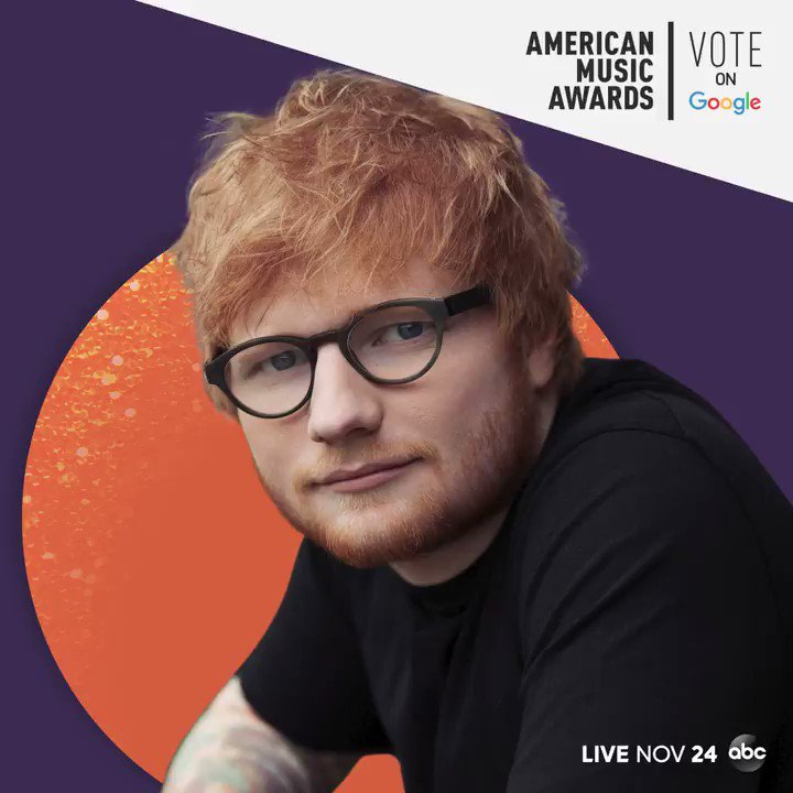 Voting @edsheeran for Tour of the Year at this years #AMAs would be perfect. 💙 VOTE NOW on @Google: goo.gle/AMAsVote