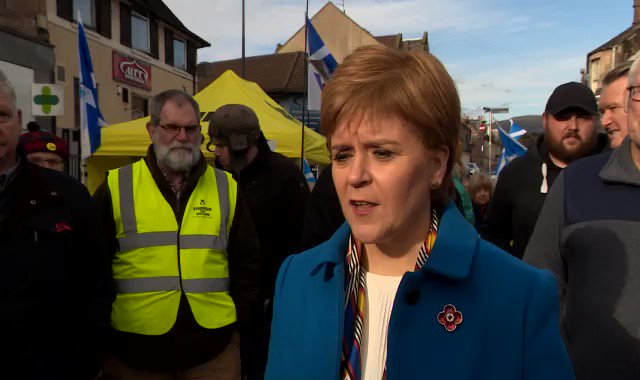 In every single Tory held seat in Scotland the SNP is the main challenger - @NicolaSturgeon says only the SNP can beat the Tories in Scotland