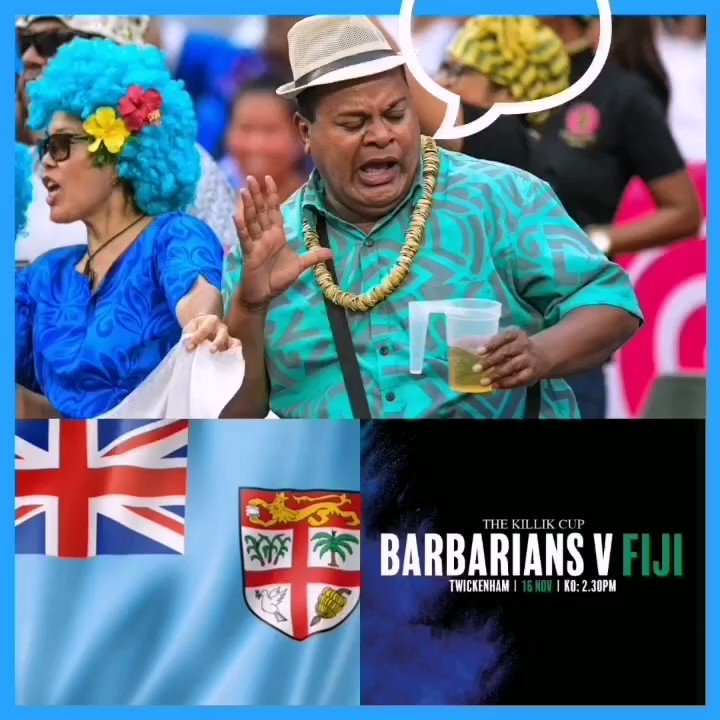 Whos shout is it?.. Its ours! Just over a week to go until our Fiji Airways Flying Fijians take on the @barbarians_fc at Twickenham. Weve got another double pass to give away.. So tag a mate whos a good shout for at the footy to win!