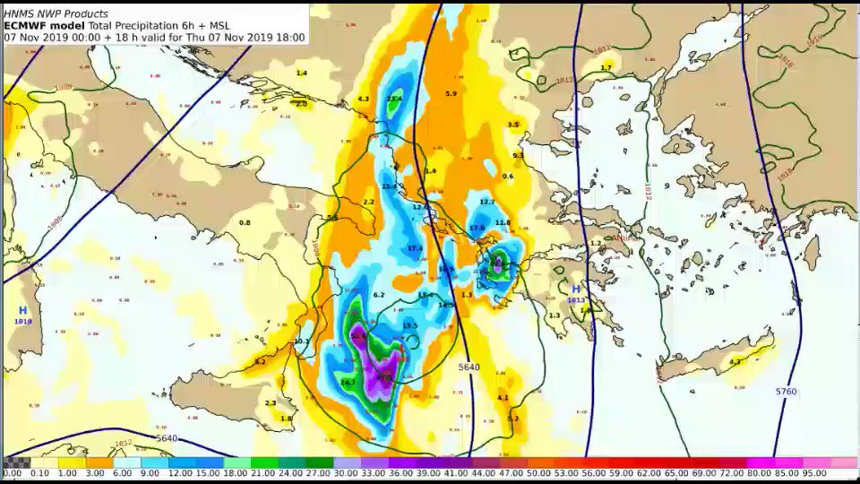 Σε ισχύ Έκτακτο Δελτίο Επιδείνωσης Καιρού (ΕΔΕΚ) hnms.gr/emy/el/warning… Δείτε και τα προβλεπόμενα ύψη υετού για το επόμενο τριήμερο από την #EMY