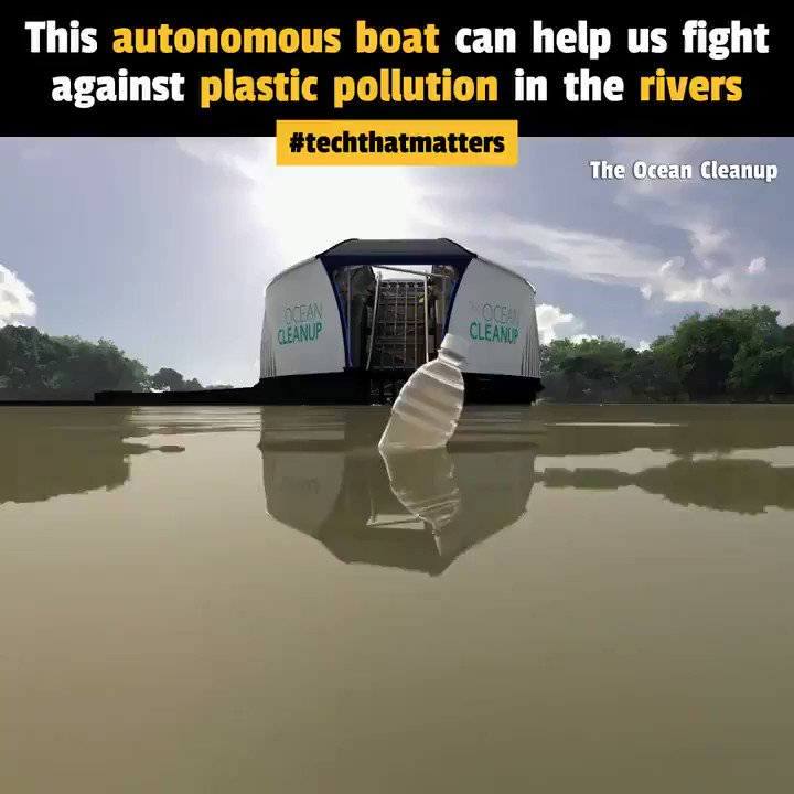 The Interceptor is an autonomous, solar-powered boat that removes up to 50 tons of trash from our rivers every day! 🚢♻️ #innovation #Engineering #Sustainability #ClimateChange #CleanUp #energy #EV #BrazilGP #environnement #Cleantech
