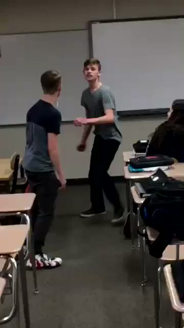 Sometimes you gotta just stand up and pop a bully right in the mouth.  I don't condone violence, but this homophobic asshole had it coming. And didn't even SEE it coming.