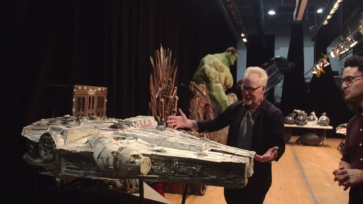Heres an excerpt from @donttrythis tour of some of @NBHS_Bruins INCREDIBLE student builds: their Millennium Falcon. Prepare to be impressed! Full video here: bit.ly/34we3TA