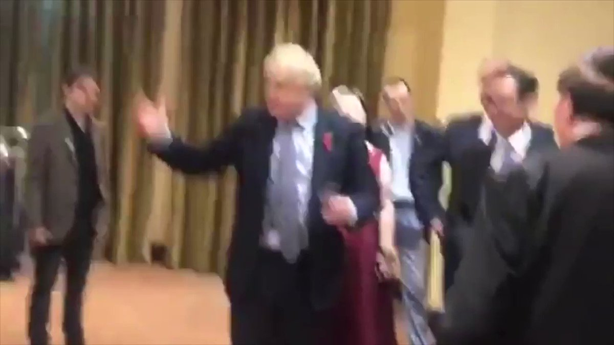 BREAKING: More footage of Boris Johnsons incoherent speech in Northern Ireland released. [Sound up]