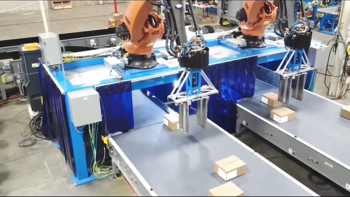 Image for the Tweet beginning: Robotic Layer Forming: Robotic Palletizers