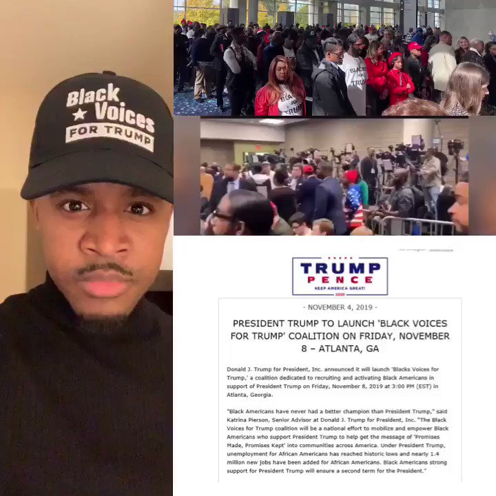 BLACK VOICES FOR TRUMP  Today was the Launch of  #BlackVoicesforTrump Coalition!  MY BLACK VOICE WILL NOT BE SILENCED! I will proudly speak about the great things President @realDonaldTrump is doing for the black community  LETS KEEP THIS TRENDING  RT or use #BlackVoicesforTrump