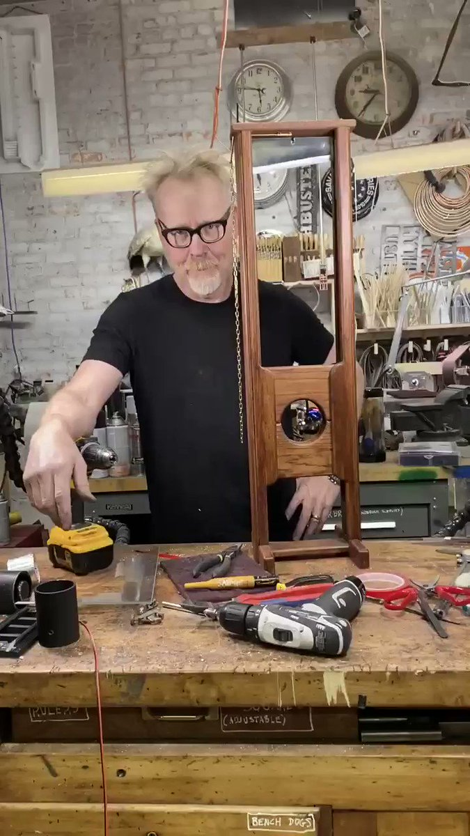 I've already made some improvements to my guillotine. More convincing, right? I'll make even more later on.