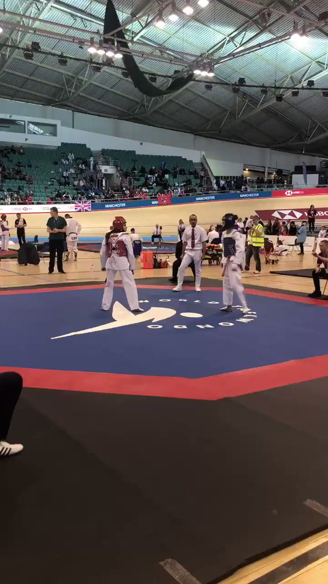 💥| After a great morning of taekwondo, session 2️⃣ is now underway 🇬🇧🥋 Who will be taking home a medal? 🥇🥈🥉🥉 #TaekwondoNationals2019