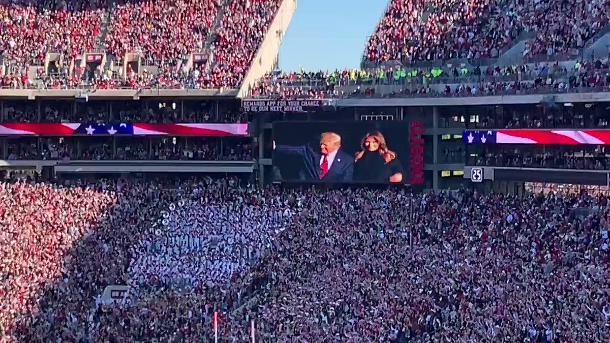 I don't care about the president being booed in Washington DC This is how real America feels about @realDonaldTrump Incredible! Will the MSM report on this as extensively as they reported on the Nationals game? RT so they can't ignore!