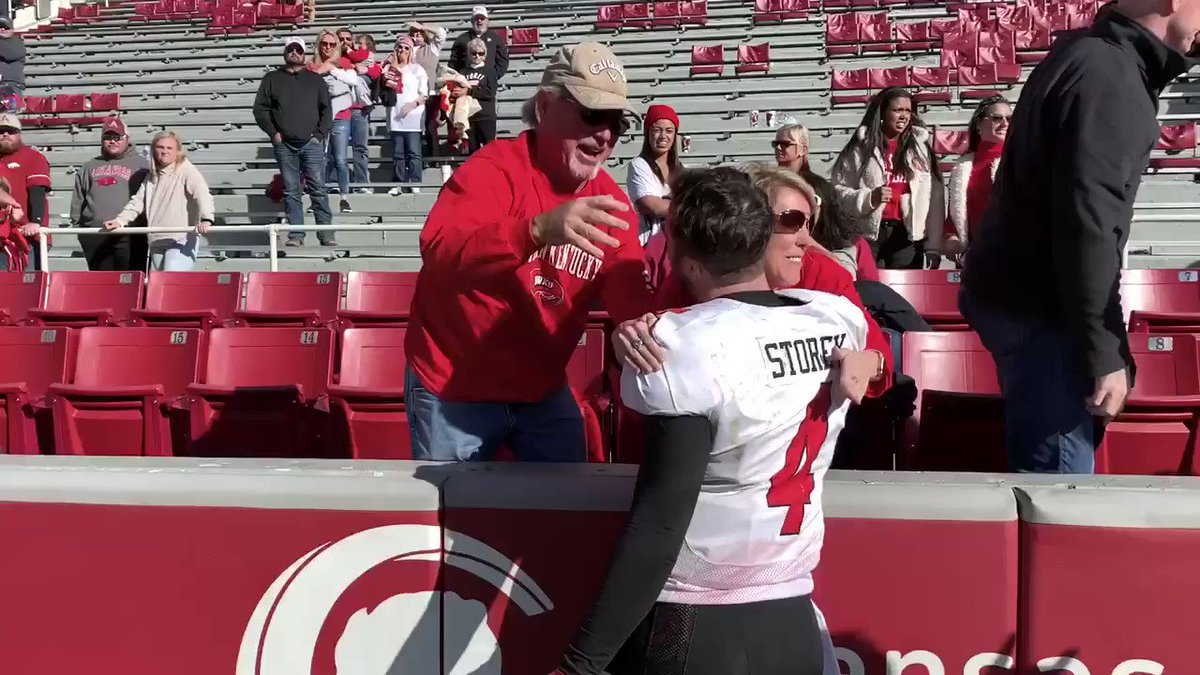"""A """"Storey"""" book ending to a day that QB1 won't soon forget. What a game and what a moment for Ty Storey (@tystorey4)"""
