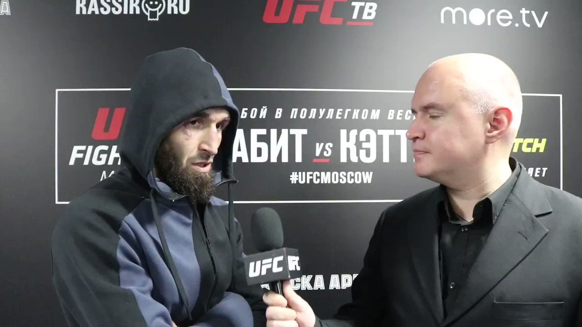 """I think the title fight is coming up soon. I hope I have this opportunity shortly.""  @Zabeast_MMA believes he's doing all the right things to earn a shot at the featherweight title. Hear him talk about fighting in Russia and what's next 🔊🆙 #UFCMoscow"