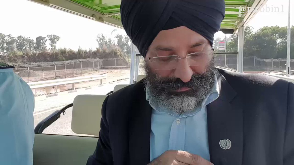 I dont know about you, I am very happy to see you guy here to Visit #GurdwaraDarbarSahib, as like we go for #Hajj. expressed ,Sadam Hassan ,who was given task to drive a shuttle services from Indo Pak Border to #GurdwaraDarbarSahib through #KartarpurCorridor on Saturday.