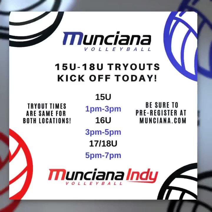15U-18U Tryouts Kick Off Today (Sunday, Nov. 10)! Join us and experience the MUNCIANA CULTURE!  45 YEARS of TRAINING JUNIOR ATHLETES! Register at http://MUNCIANA.COM  #athleticexcellence #lifetimeexperience