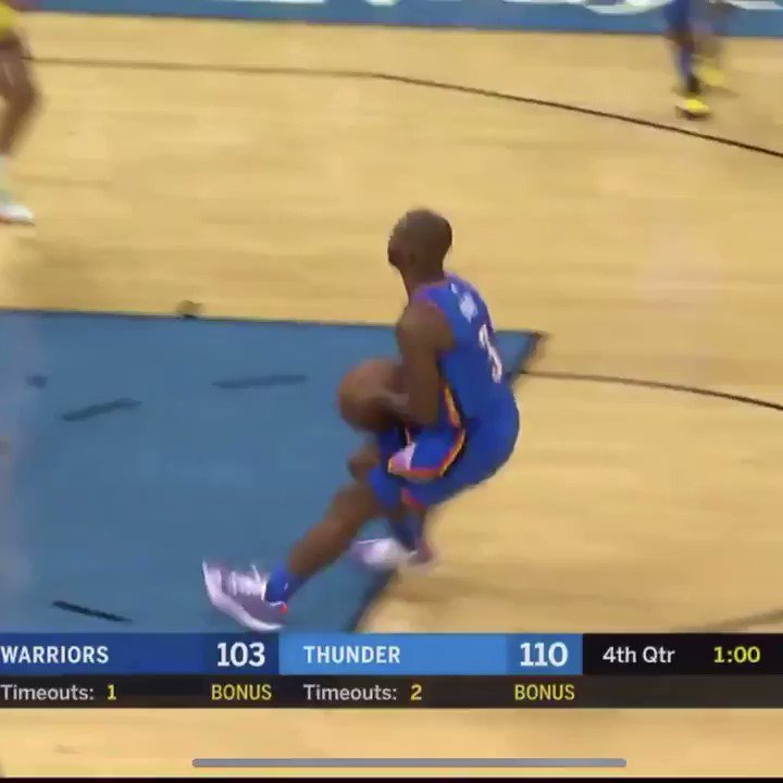 """@WorldWideWob   Sound on.   Chris Paul yells """"Layup!"""" right after he shoots the jumper to ice the game."""