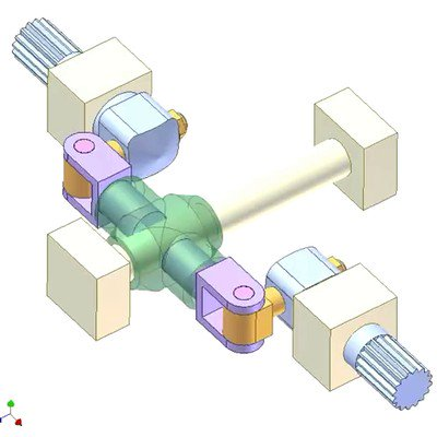Transmission Between Coaxial Shafts