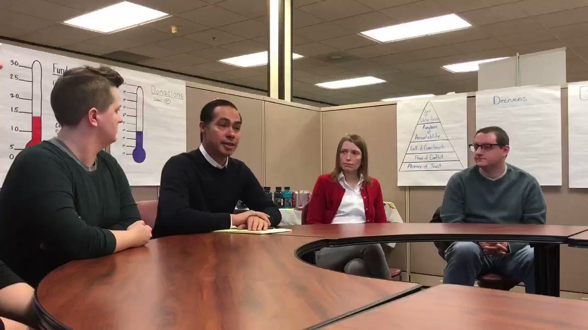 """Today @JulianCastro met with advocates and providers at @arc_sei, an organization serving individuals with developmental disabilities. """"Nobody here does this for the money, they do it because they have a passion for it and they care."""""""