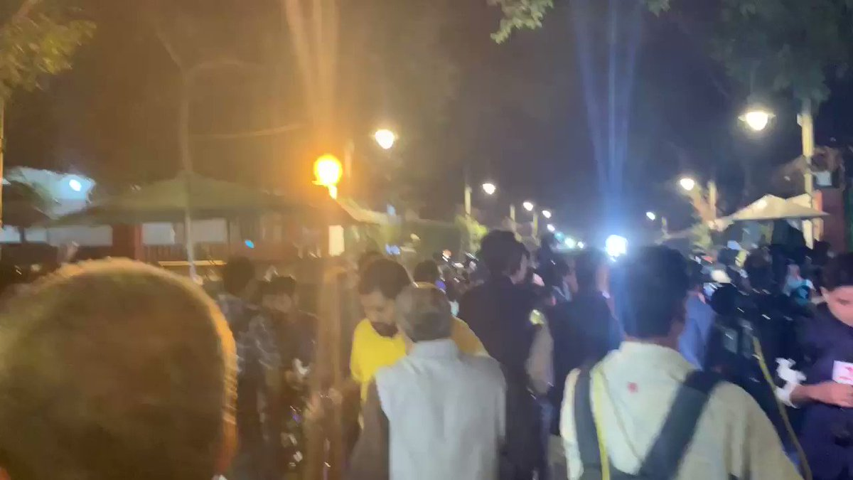UNPRECEDENTED scenes outside the residence of Congress president Sonia Gandhi! Never in the past have we seen anyone crossing the gates of 10 Janpath! Immediate impact of SPG removal from Sonia Gandhi's security. Complete chaos as leaders came out to give sound bytes post meet.