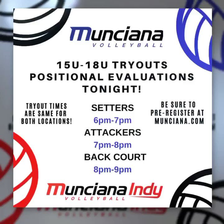 Missed the 1st tryout? JOIN US TONIGHT (Nov. 11th) for Positional Evaluations!  Be sure to Pre-Register at http://MUNCIANA.COM  #45years #athleticexcellence #lifetimeexperience