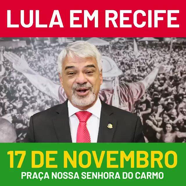 LULA CONFIRMADO🇧🇷  Lula estará em Recife no próximo domingo para falar com os nordestinos. O festival Lula Livre, que vai contar com a participação de grandes nomes da música brasileira, vai arrastar uma multidão! Vamos à luta!! 🔰