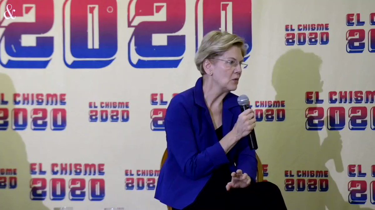 "Elizabeth Warren triangulates on immigration:   ""We need ICE"" for ""our safety"" against ""threats"" of drugs and terrorism.   Warren refuses to commit to suspending deportations.  Bernie Sanders is the only candidate who will, as President, #AbolishICE and suspend deportations."