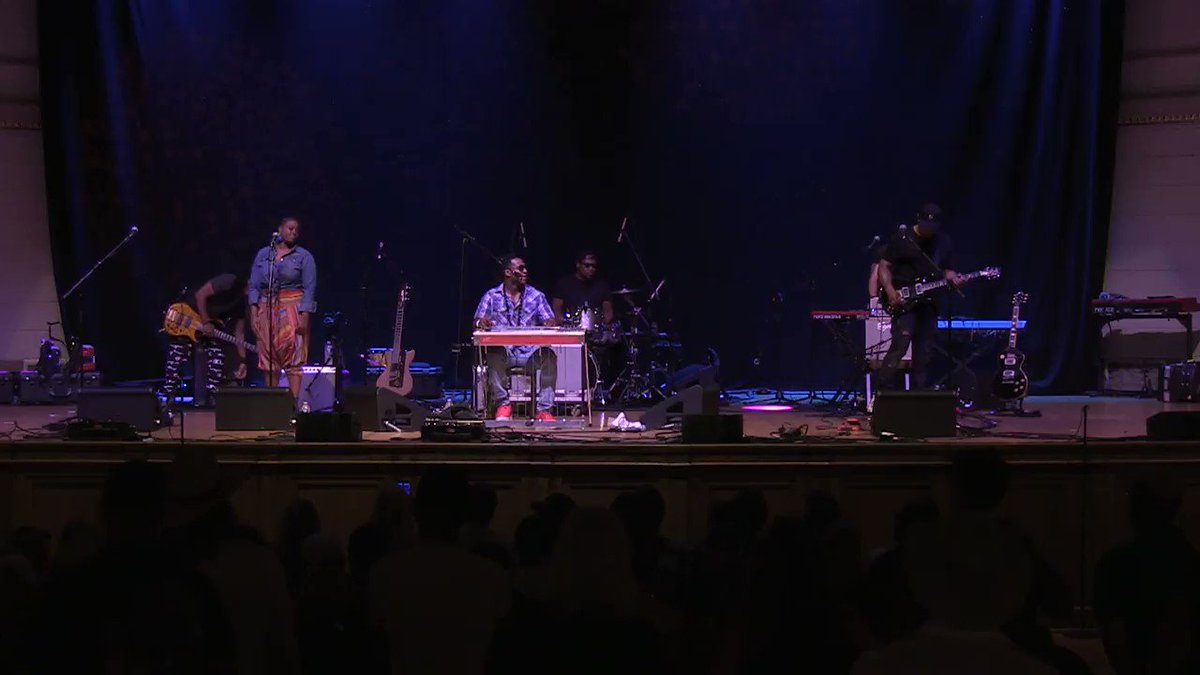 Robert Randolph & the Family Band (@rrtfb) brings raucous rock and roll energy to the gospel tradition of Sacred Steel at the 20th annual @AmericanaFest. Hear more from todays mini concert at worldcafe.npr.org. #Americanafest @WMOT_RootsRadio #Nashville