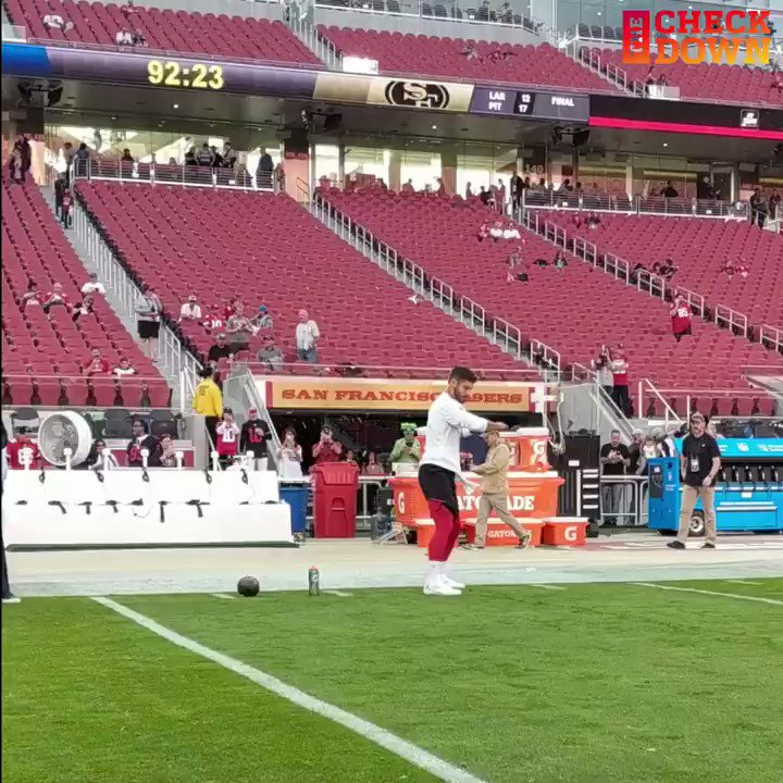 49ers vs. Seahawks: Jimmy Garoppolo has his own hip-thrusting warmup